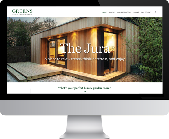 Website design - desktop layout